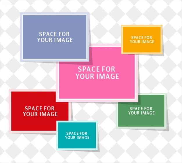 Photo Collage Free Vector Template