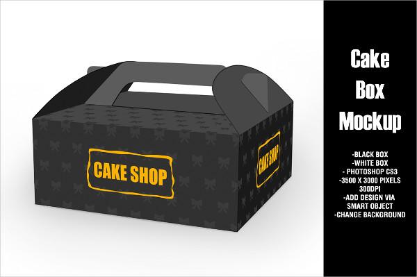Photoshop Cake Box Mock-Up