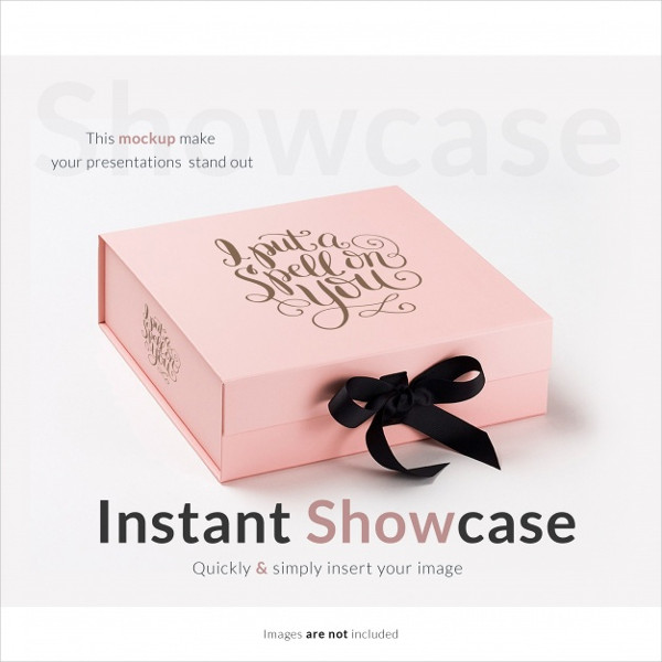 Free Download Pink Gift Box Mock-Up Template