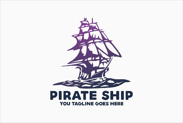 Pirate Shipping Logo Template