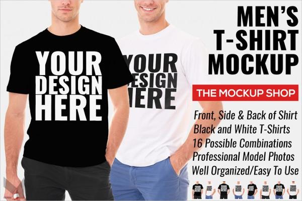 Premium Men's T-Shirt Mockup