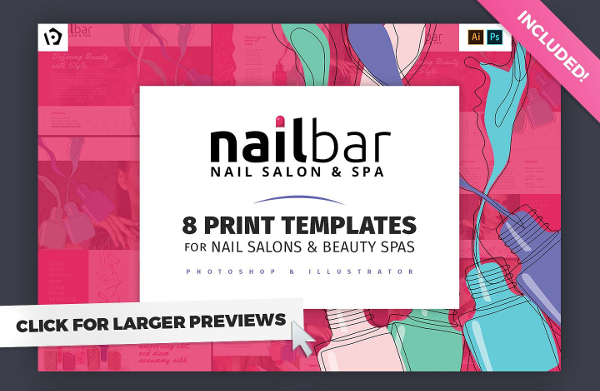 Print Bundle For Nail And Beauty Salon