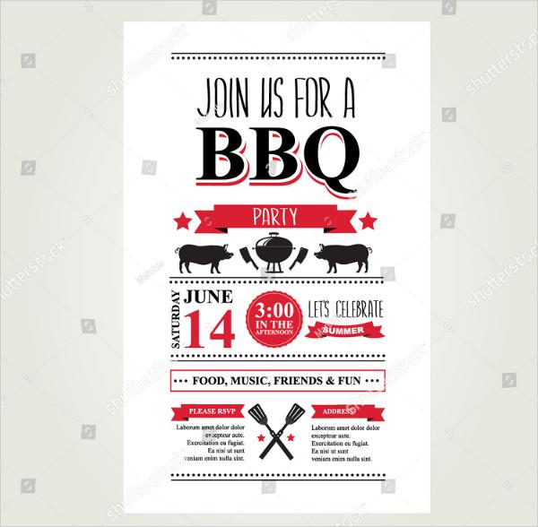 Print Ready BBQ Birthday Invitations Template