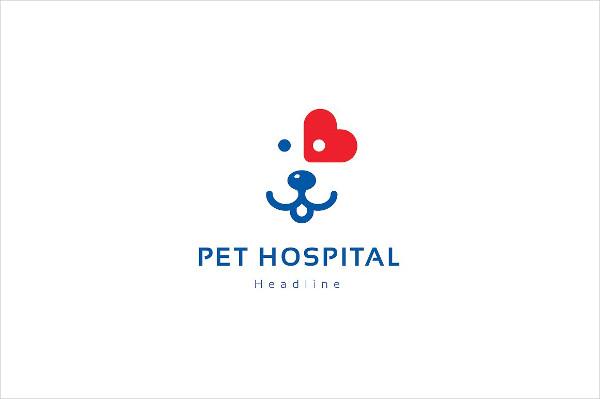 Hospital Pet Logo Design Templates