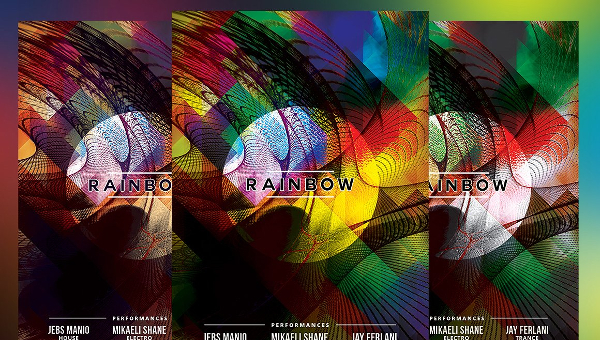 Rainbow Flyer Templates Free Premium PSD Illustrator Downloads - Art flyers templates free