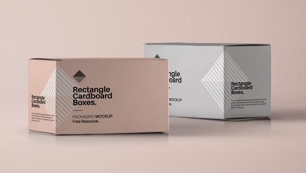 Rectangular Box Free PSD Mockup