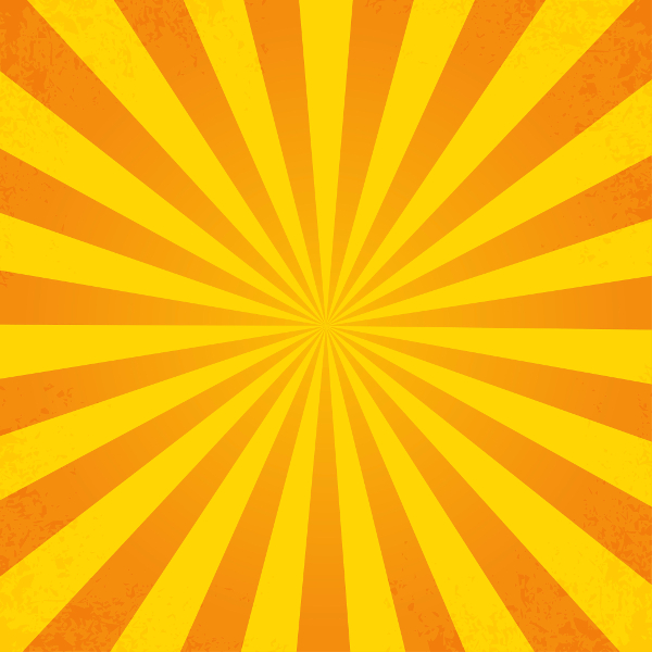 Retro Ray Orange Background