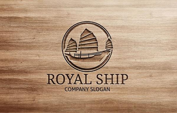 Royal Shop Vintage Logo Template