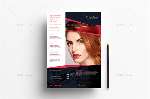 Salon Advertisement Poster Template