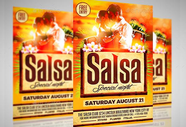 Salsa Class Flyer Templates