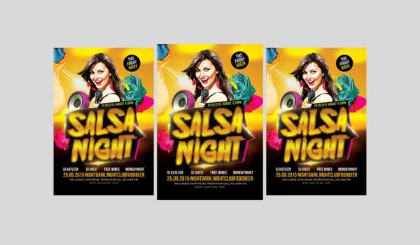 Free Salsa Flyer PSD Templates