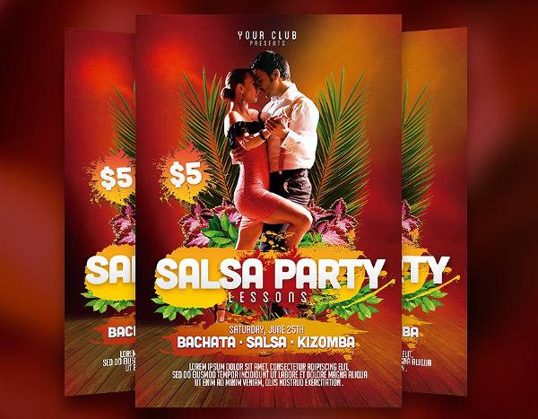 Salsa Party Flyer Templates Design