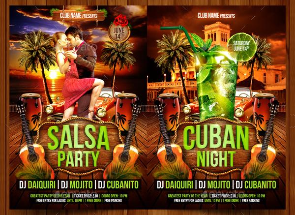 Editable Salsa Party Flyer Template