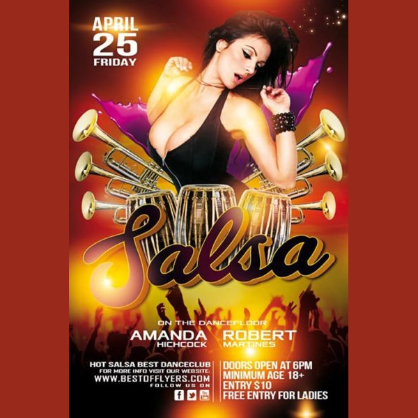 Free Salsa Party Flyer Templates