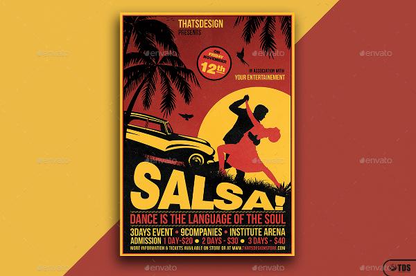 Salsa Tropical Design Flyer Templates