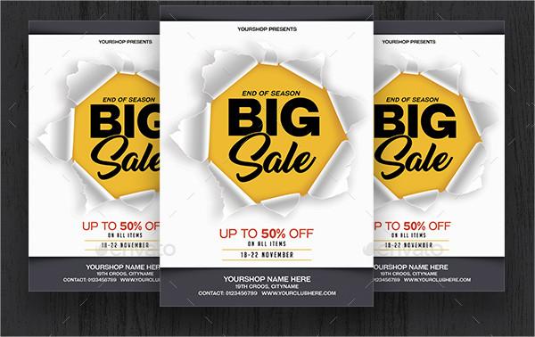 Season Big Sale Flyers Template