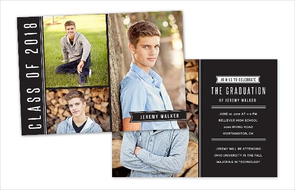 Senior Graduation Card Invitation