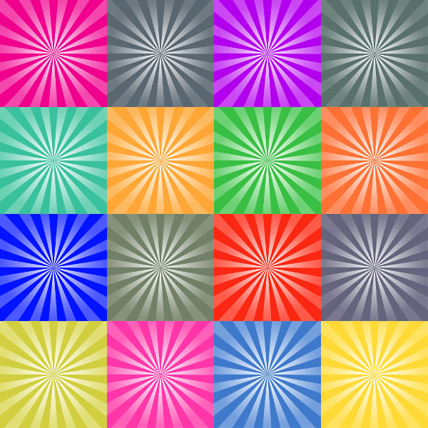 Set Of Retro Ray Backgrounds