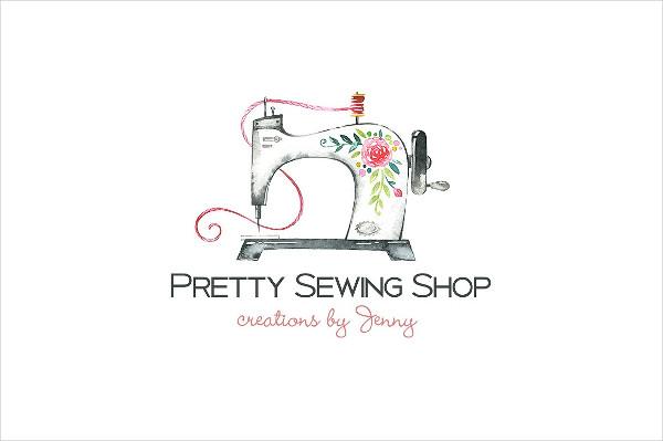 Sewing Shop Branding Logo Template