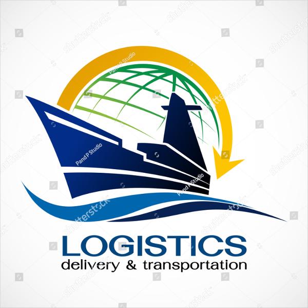 Ship And Globe Logo Template