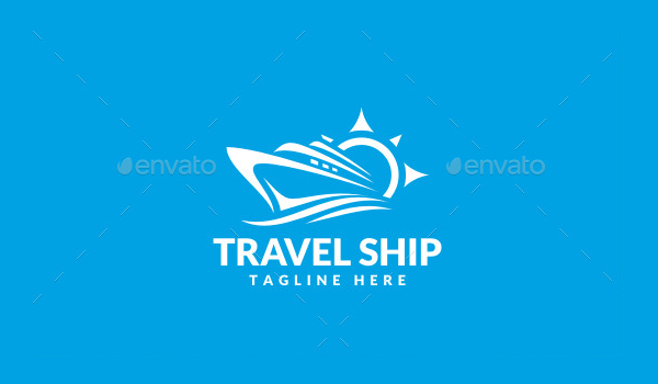 Ship Travel Logo Template