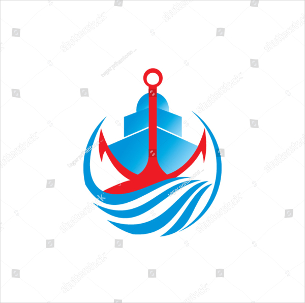 Ship Vacation Logo Template