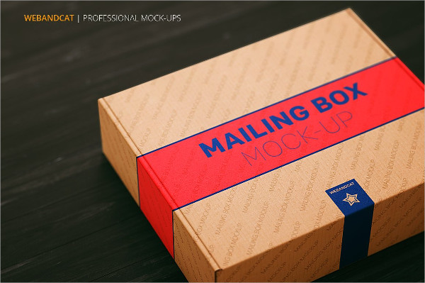 Professional Mailing Box Mock-up Template