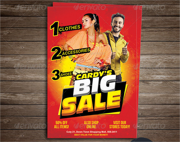 Shopping Spring Big Sale Flyer Template