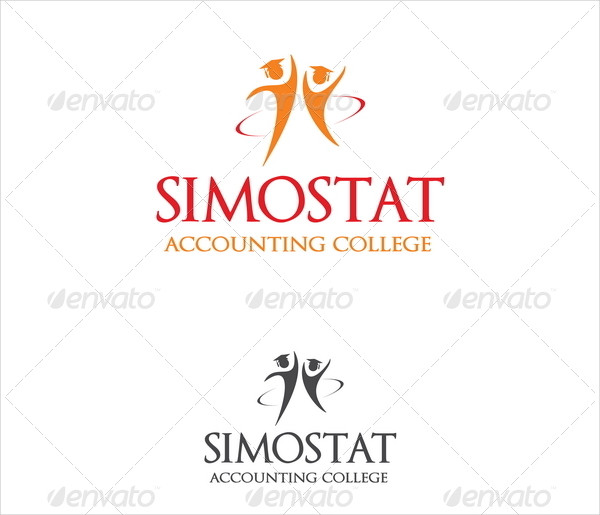 College Simostat Accounting Logo Template