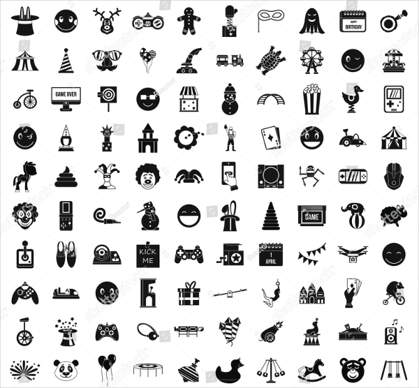 Simple Funny Style Icons