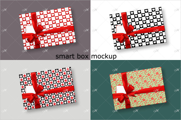 Smart Gift Box Mock-up in Top View
