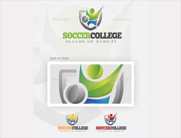 Soccer College Logo Template