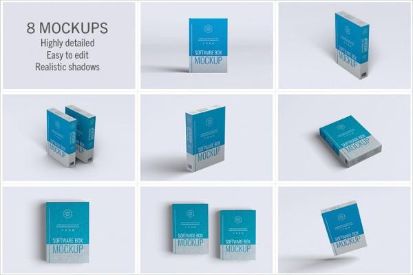 Software Box 8 Mockups