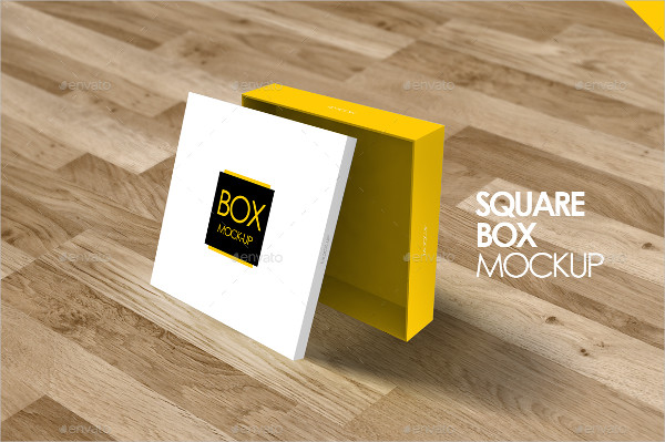 Square Box Mock-Up Template