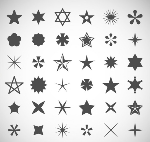 Star Icons Collection Free Vector