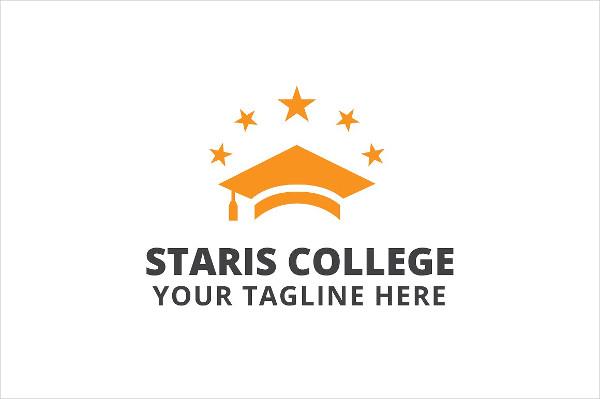 Staris College Basketball Logo Template