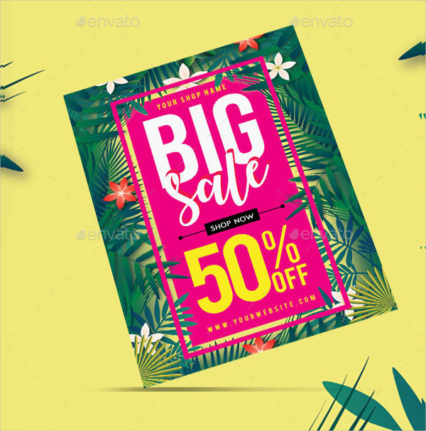 Big Summer Sale Flyer Templates