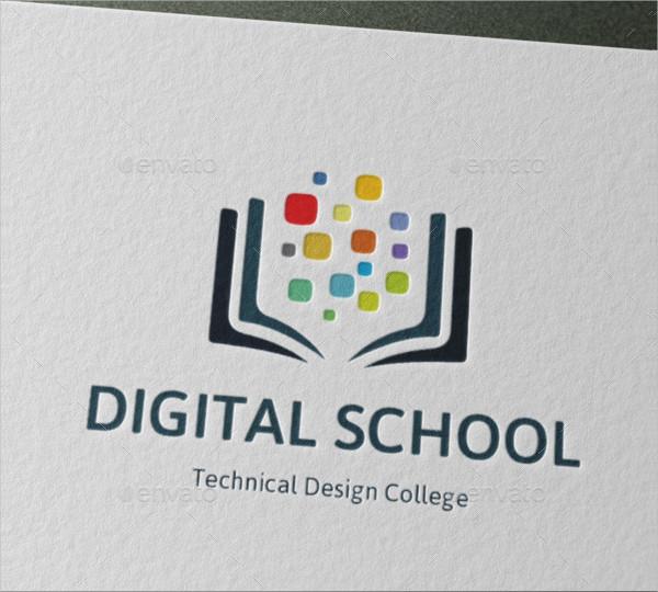 College Digital School Logo Template