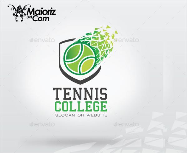 Tennis College Logo Design Templates
