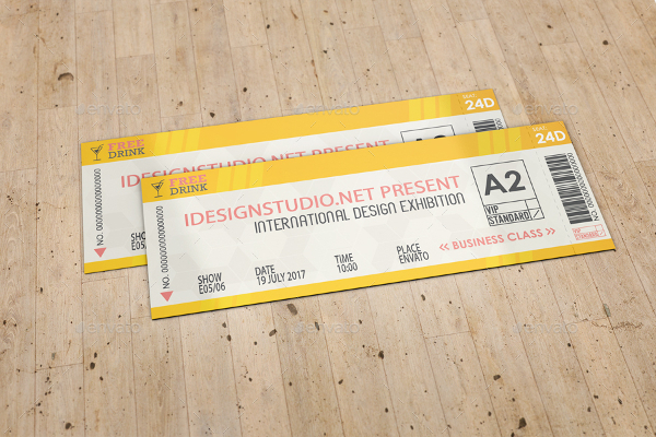 Ticket Design Mockup Template