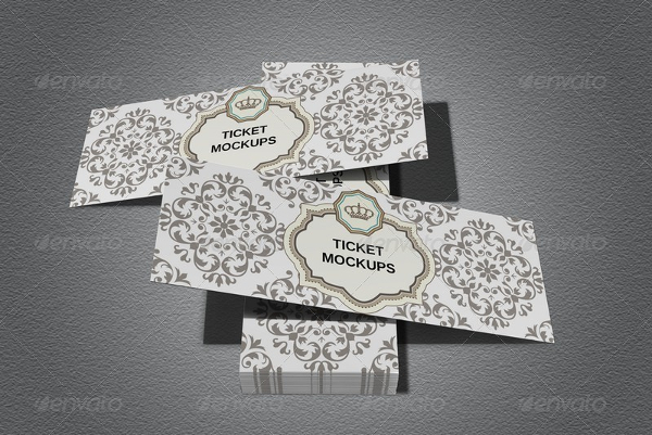 Ticket Invitation Mokcups