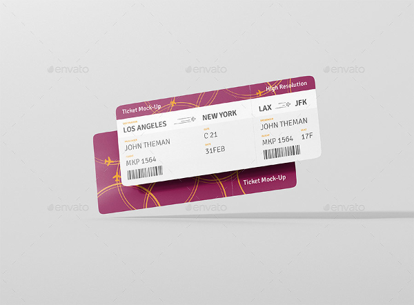 Ticket Print Mockup Template