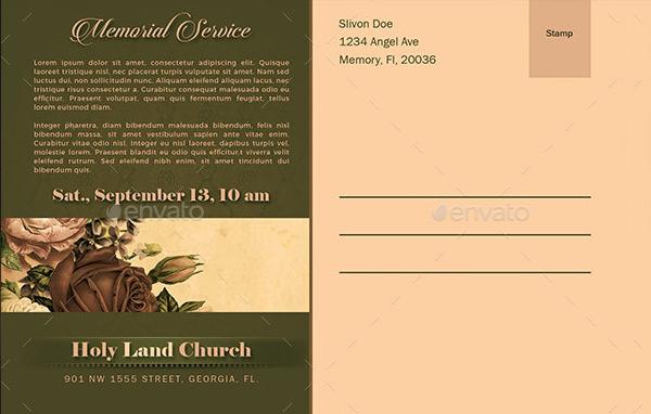 Unique Funeral Announcement Template