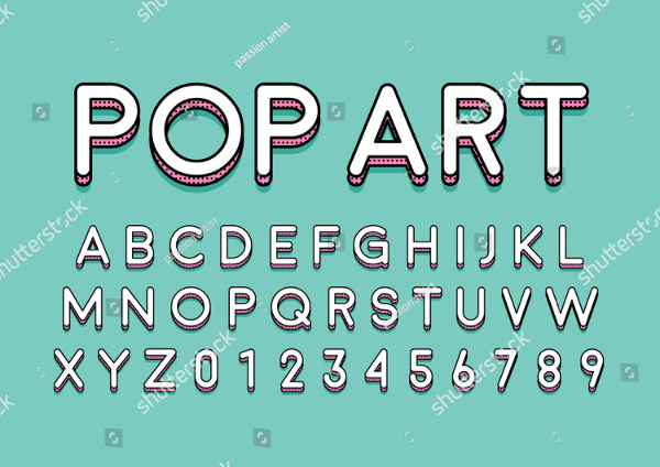 Urban Modern Colorful Font And Alphabet
