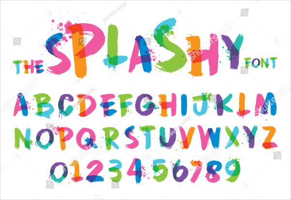Urban Stylized Splashy Font