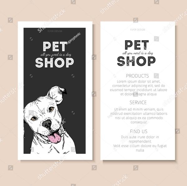 Vector Set Of Pet Shop Flyer Template