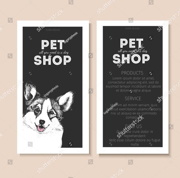 Vector Set Of Pet Shop Flyers