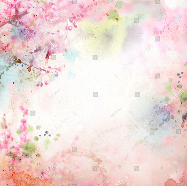 Watercolor Foloral Background