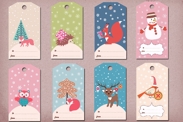 Winter Gift Tags Template