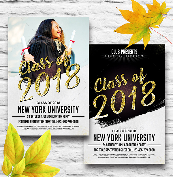 Creative Graduation Invitation Template